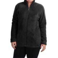 White Sierra Cozy Fleece Jacket (For Plus Size Women) in Black - Closeouts