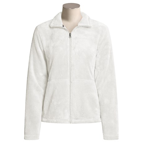 White Sierra Cozy Fleece Jacket (For Women) in Cloud