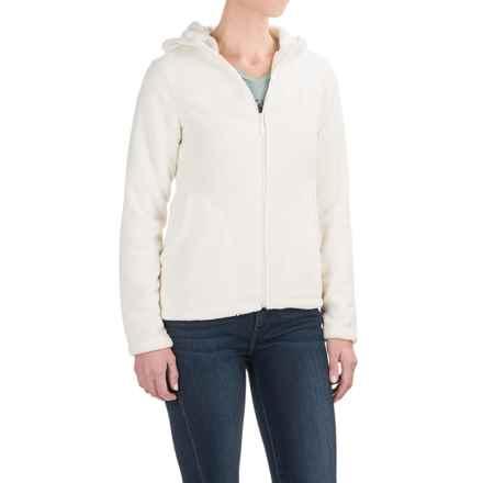 White Sierra Cozy Fleece Jacket - Hooded (For Women) in Cloud - Closeouts