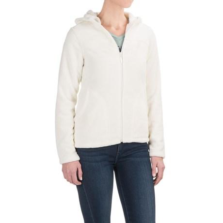 White Sierra Cozy Fleece Jacket - Hooded (For Women) in Cloud