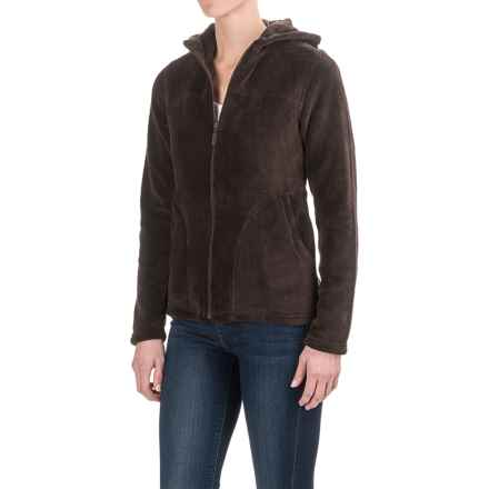 White Sierra Cozy Fleece Jacket - Hooded (For Women) in Mole - Closeouts