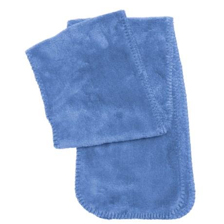 White Sierra Cozy Fleece Scarf (For Women) in Blues