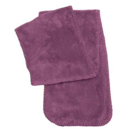 White Sierra Cozy Fleece Scarf (For Women) in Crushed Grape - Closeouts