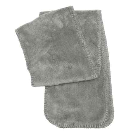White Sierra Cozy Fleece Scarf (For Women) in Sleet Grey - Closeouts