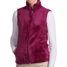 White Sierra Cozy Fleece Vest (For Women) in Beet Red - Closeouts