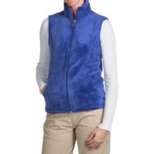 White Sierra Cozy Fleece Vest (For Women) in Blues - Closeouts