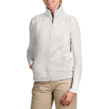 White Sierra Cozy Fleece Vest (For Women) in Cloud - Closeouts