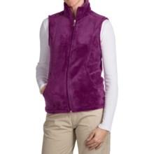 White Sierra Cozy Fleece Vest (For Women) in Crushed Grape - Closeouts