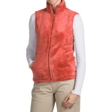 White Sierra Cozy Fleece Vest (For Women) in Dark Coral - Closeouts