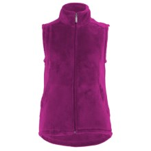 White Sierra Cozy Fleece Vest (For Women) in Fuchsia - Closeouts