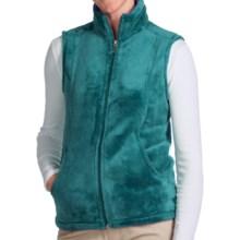 White Sierra Cozy Fleece Vest (For Women) in Harbor Green - Closeouts