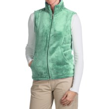 White Sierra Cozy Fleece Vest (For Women) in Shasta Green - Closeouts