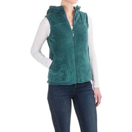 White Sierra Cozy Fleece Vest - Hooded (For Women) in Pacific - Closeouts