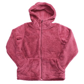 White Sierra Cozy Jacket - Fleece (For Girls) in Honeysuckle