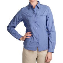 White Sierra Crestview Shirt - UPF 30, Long Roll-Up Sleeve (For Women) in Sky - Closeouts