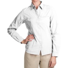 White Sierra Crestview Shirt - UPF 30, Long Roll-Up Sleeve (For Women) in White - Closeouts
