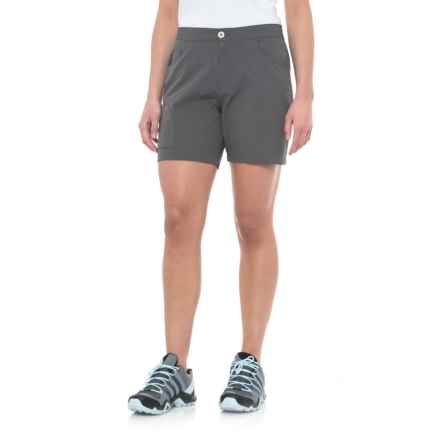 White Sierra Crissy Field Stretch Shorts (For Women) in Caviar - Closeouts