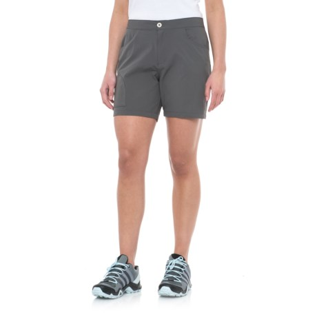 White Sierra Crissy Field Stretch Shorts (For Women) in Caviar