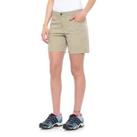White Sierra Crissy Field Stretch Shorts (For Women) in Khaki - Closeouts