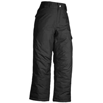 White Sierra Cruiser Snow Pants - Insulated (For Little and Big Girls) in Black - Closeouts