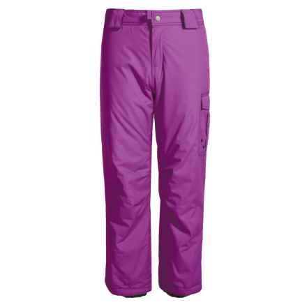White Sierra Cruiser Snow Pants - Insulated (For Little and Big Girls) in Clover - Closeouts