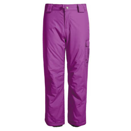 White Sierra Cruiser Snow Pants - Insulated (For Little and Big Girls) in Clover