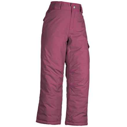 White Sierra Cruiser Snow Pants - Insulated (For Little and Big Girls) in Crushed Grape - Closeouts