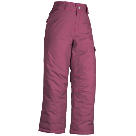 White Sierra Cruiser Snow Pants - Insulated (For Little and Big Girls) in Crushed Grape