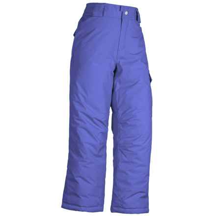 White Sierra Cruiser Snow Pants - Insulated (For Little and Big Girls) in Ice Blue - Closeouts