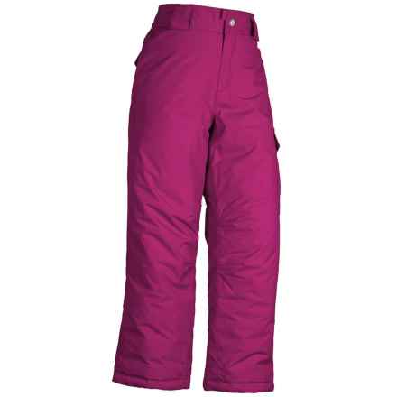 White Sierra Cruiser Snow Pants - Insulated (For Little and Big Girls) in Sugar Plum - Closeouts