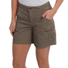 White Sierra Crystal Cove II Shorts - UPF 30 (For Women) in Bark - Closeouts