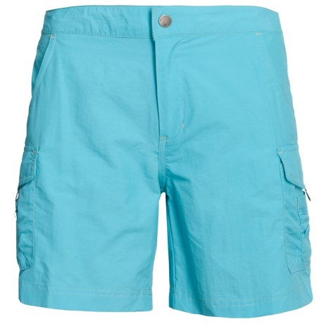 White Sierra Crystal Cove II Shorts - UPF 30 (For Women) in Bluefish
