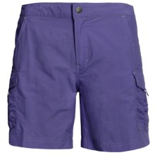 White Sierra Crystal Cove II Shorts - UPF 30 (For Women) in Dark Violet - Closeouts