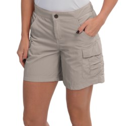 White Sierra Crystal Cove II Shorts - UPF 30 (For Women) in Stone