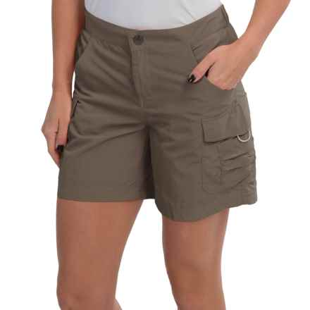 White Sierra Crystal Cove Shorts - UPF 30 (For Women) in Bark - Closeouts