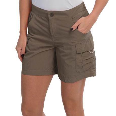 White Sierra Crystal Cove Shorts - UPF 30 (For Women) in Bark