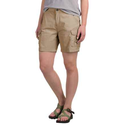 White Sierra Crystal Cove Shorts - UPF 30 (For Women) in Stone - Closeouts