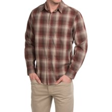 White Sierra Dardanelle Ombre Shirt - Long Sleeve (For Men) in Chestnut - Closeouts