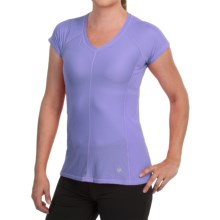 White Sierra Day to Day Shirt - Short Sleeve (For Women) in Deep Periwinkle - Closeouts