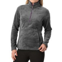 White Sierra Diamond Fleece Jacket - Zip Neck (For Women) in Asphalt - Closeouts