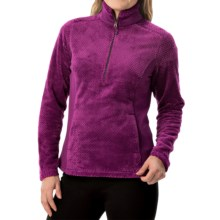 White Sierra Diamond Fleece Jacket - Zip Neck (For Women) in Deep Purple - Closeouts