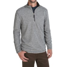 White Sierra Echo Sweater - Zip Neck (For Men) in Asphalt - Closeouts