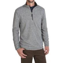 White Sierra Echo Sweater - Zip Neck (For Men) in Asphalt - Closeouts