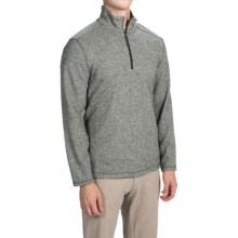 White Sierra Echo Sweater - Zip Neck (For Men) in Dark Sage - Closeouts