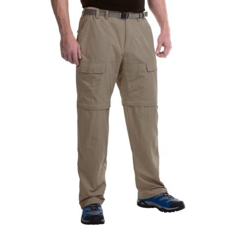 White Sierra El Dorado Convertible Pants (For Men) in Bark