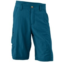 White Sierra Explorer Shorts - UPF 30 (For Little and Big Boys) in Moroccan Blue - Closeouts