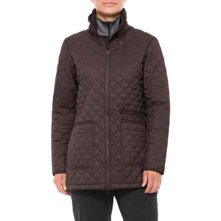 White Sierra Falling Maple Quilted Jacket - Insulated (For Women) in Coffee Bean - Closeouts