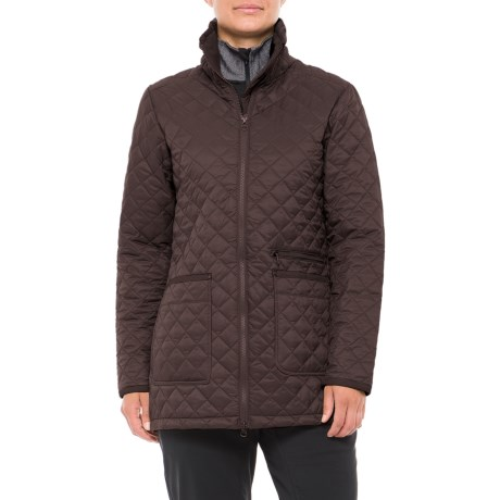 White Sierra Falling Maple Quilted Jacket - Insulated (For Women)