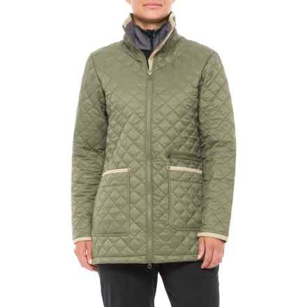 White Sierra Falling Maple Quilted Jacket - Insulated (For Women) in Sage - Closeouts