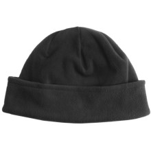 White Sierra Fleece Beanie Hat - Midweight (For Men and Women) in Black - Closeouts